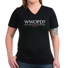 WWOPD? Women's V-Neck Dark T-Shirt