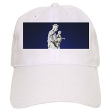 Infrared madonna and child statue Baseball Cap