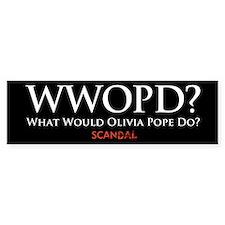 Wwopd? (bumper) Bumper Sticker