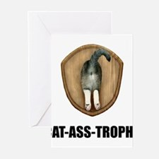 Cat Ass Trophy Greeting Cards