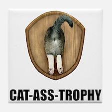 Cat Ass Trophy Tile Coaster