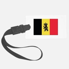 Belgium State Ensign Flag Luggage Tag