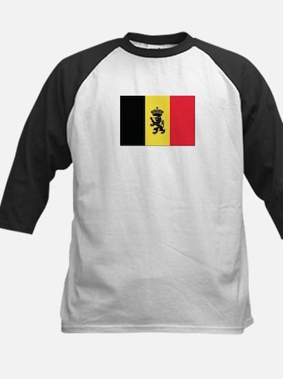 Belgium State Ensign Flag Kids Baseball Jersey