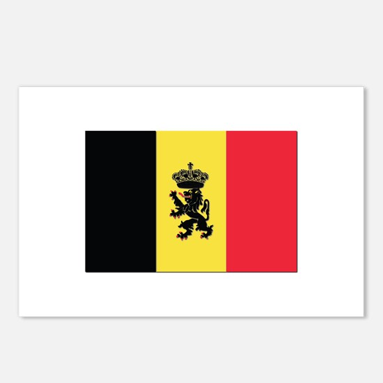 Belgium State Ensign Flag Postcards (Package of 8)