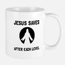 Jesus Saves Level Mugs