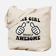 This Girl Is Awesome Tote Bag