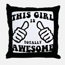 This Girl Is Awesome Throw Pillow