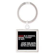 We're all human. Square Keychain
