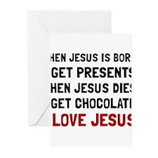 Love Jesus Greeting Cards