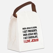 Love Jesus Canvas Lunch Bag