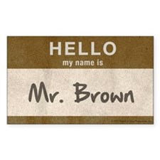 Reservoir Dogs Mr. Brown Sticker (rectangle)