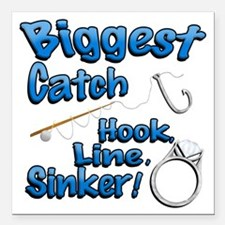 Biggest Catch Hook Line Sinker Wedding Ring! Squar