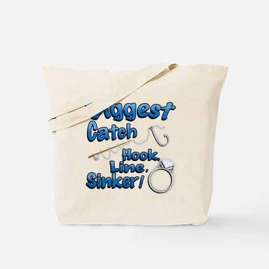 Biggest Catch Hook Line Sinker Wedding Ring! Tote