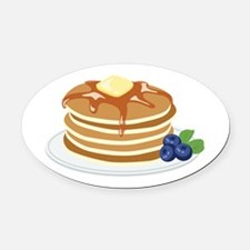 Pancakes Oval Car Magnet