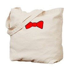 Red Bow Tie Tote Bag
