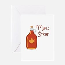Maple Syrup Greeting Cards