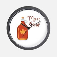 Maple Syrup Wall Clock