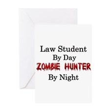 Law Student/Zombie Hunter Greeting Card