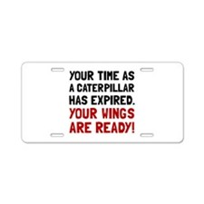 Wings Ready Aluminum License Plate