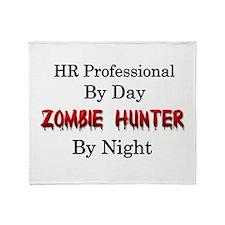 HR Professional/Zombie Hunter Throw Blanket