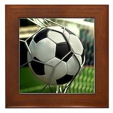 Soccer Goal Framed Tile
