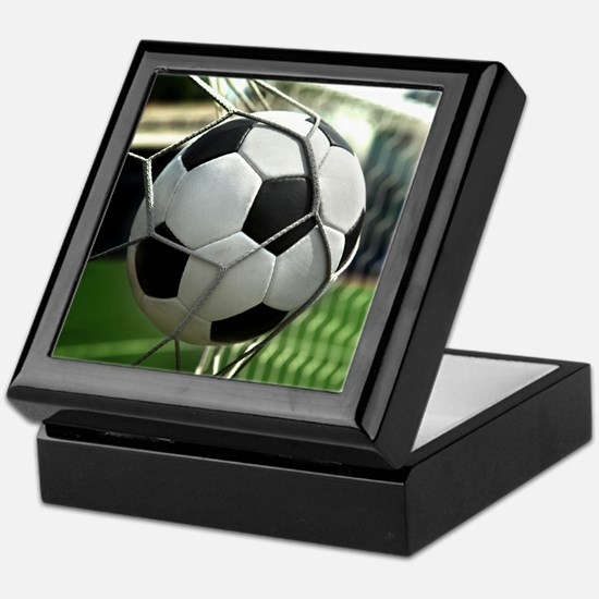 Soccer Goal Keepsake Box