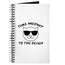 Take Meowt To The Beach Journal