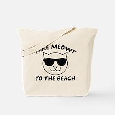 Take Meowt To The Beach Tote Bag