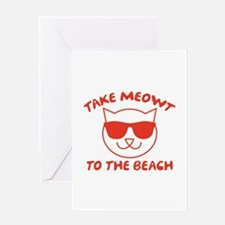 Take Meowt To The Beach Greeting Card