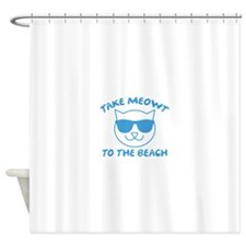 Take Meowt To The Beach Shower Curtain