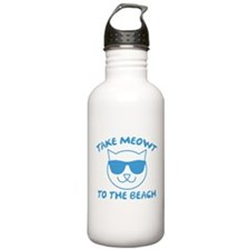 Take Meowt To The Beach Water Bottle