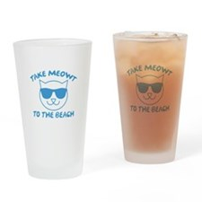 Take Meowt To The Beach Drinking Glass