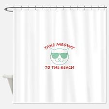 Take Meowt To The Beach Shower Curtain