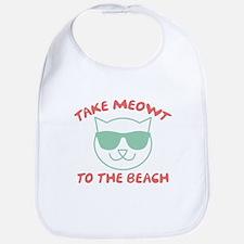 Take Meowt To The Beach Bib