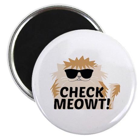 "Check Meowti 2.25"" Magnet (100 pack)"