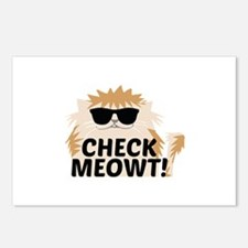 Check Meowti Postcards (Package of 8)