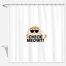Check Meowti Shower Curtain