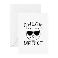Check Meowti Greeting Card