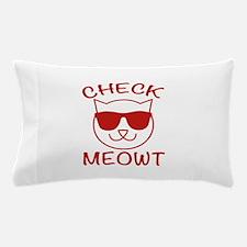 Check Meowti Pillow Case