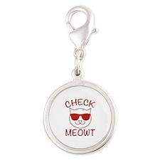 Check Meowti Silver Round Charm