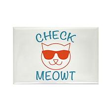 Check Meowti Rectangle Magnet