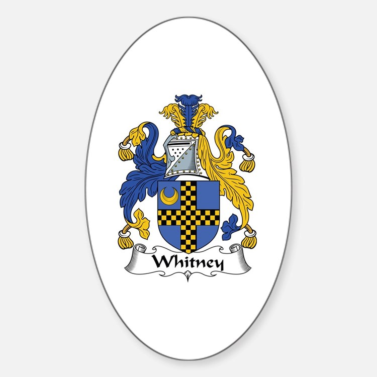 Whitney Oval Decal