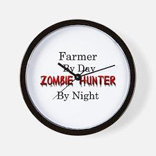 Farmer/Zombie Hunter Wall Clock