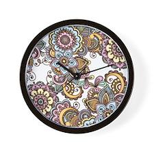 Henna 1 Wall Clock