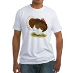 Bourbon Red Tom Turkey Fitted T-Shirt