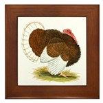 Bourbon Red Tom Turkey Framed Tile