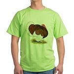Bourbon Red Tom Turkey Green T-Shirt