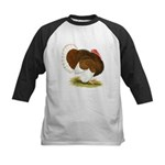 Bourbon Red Tom Turkey Kids Baseball Jersey