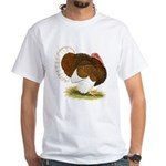 Bourbon Red Tom Turkey White T-Shirt