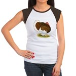 Bourbon Red Tom Turkey Women's Cap Sleeve T-Shirt